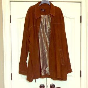 NWT men's Missani Le Collezioni leather coat - 4XT